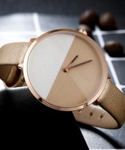 Luxury Women's Fashion Dress Watches Stitching Design Simple Bracelet Ladies wristwatches Gold BGG Brand Quartz Famale Clock 1
