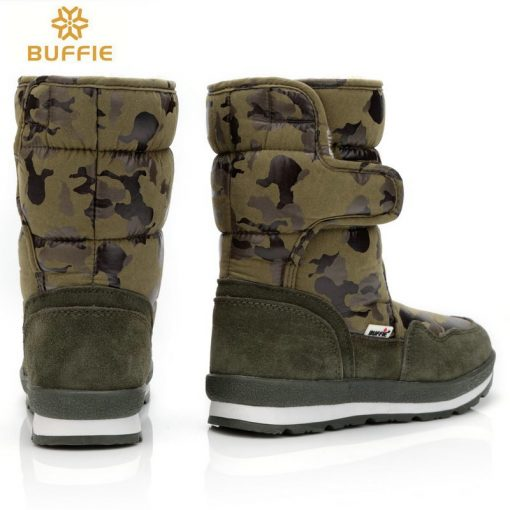 shoes Men winter warm boots camouflage snowboot small size to big feet popular new design fur insole male style free shipping 41 3