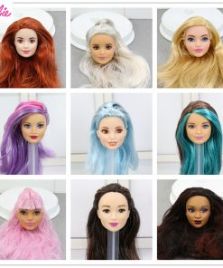 For Limited Barbie Doll Head Accessories One Pcs Collection Fashion Hair American Best Girl Doll Gift DIY Toys for Children