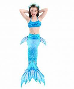 Kids Girls Swimwear Mermaid Tails Costumes For Swimming Bikini Swimsuit Costume Little Children Mermaid Party Dress Can Add Fin 1