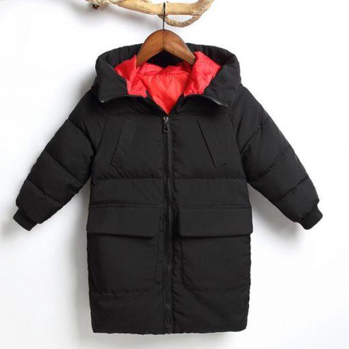 HH Toddler Boy winter jacket coat Hooded Graffiti Camouflage parka girl snowsuit children kids Thick teenage long down jacket  2