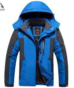 PEILOW plus size 5XL,6XL,7XL,8XL,9XL winter jacket men Waterproof windproof velvet warm parka coat Tourism Mountain overcoat 1