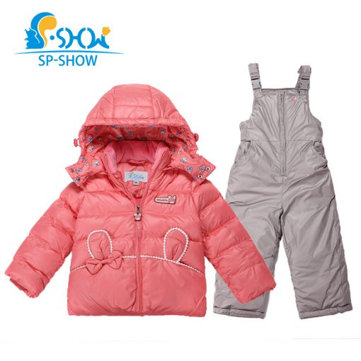 BUY 1 SUIT GET 1 FREE SCARF -30 degrees SP-SHOW Winter 90% White down suit Thick Warm with fleece Girl Hooded Thick Down suit