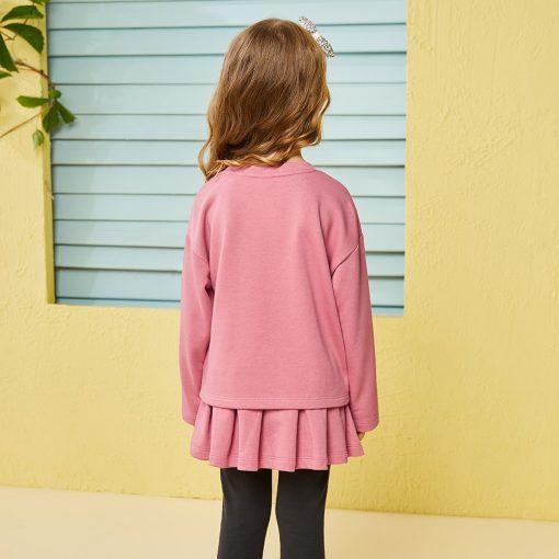 Balabala child clothing suit set toddler girl clothing girls costume o-neck long sleeve Pullover sets with Belt clothing sets  2