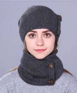 Xthree fashion winter hat for women and men knitted hat beanie hat scarf  brand new thick cap 1