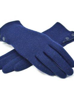 VISNXGI Design Fashion Women Gloves Autumn Winter Cute Button Warm Warmer Mitts Full Finger Mittens Women Cashmere Female Gloves 1