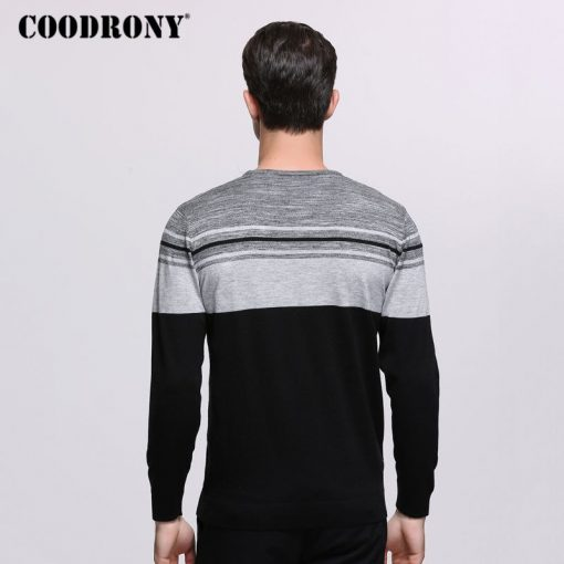 COODRONY Sweater Men Brand Clothing Mens Sweaters For 2018 Autumn Winter Casual O-Neck Pull Homme Cashmere Wool Pullover Men 229 4