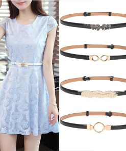 New Fashion Thin Belts For Women Flower Hasp Woman Patent Leather Female strap Belt dress adjust cintos femininos black wedding