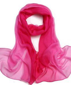 2018 Hot Selling Wraps Women Scarf Fashion Tie-dye Patchwork Gradual Colors Chiffon Georgette Silk Plants Shawl Flowers Scarves 1