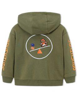 balabala Children Boys Jackets Autumn 2018 New Child Wear Casual Hooded Baseball Uniform Fashion Loose Fun Cardigan For Boys 1