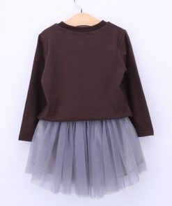 Humor Bear Spring Girls Clothing Sets Girls Clothes Smiling Face Long Sleeve + Skirt 2Pcs Suit Children Clothing Sets 1