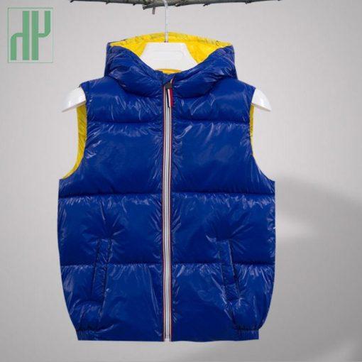 Kids vest Coats shiny gold silver Toddler girl vest baby boy hooded jacket winter autumn waistcoats jacket for girls Outerwear 4