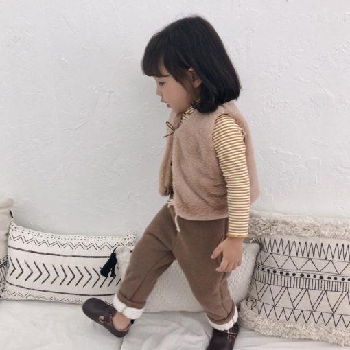 Toddler Boys trousers Thick winter velvet baby pants girl leggings children elastic waist girls warm leggings thickening pants 2