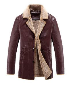 2018 New Winter Jackets Men Casual Slim Fit PU Windbreak Thick Overcoat Leather Jacket Male Fashion Brand Clothing Plus M-4XL 1