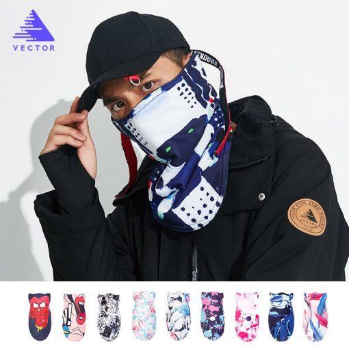 VECTOR 2018 Winter Warm Ski Snowboard Motorcycle Outdoor Sport Full Face Mask Cartoon Triangular Scarf Windproof Skiing Mask 1