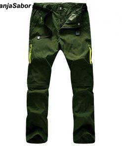 NaranjaSabor 2018 Summer Quick Dry Men's Pants Men Trousers Removable Sweatpants Waterproof Army Pants Mens Brand Clothing 5XL 1
