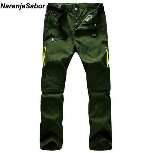 NaranjaSabor 2018 Summer Quick Dry Men's Pants Men Trousers Removable Sweatpants Waterproof Army Pants Mens Brand Clothing 5XL 1