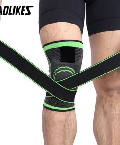 1PCS 3D Pressurized Fitness Running Cycling Knee Support Braces Elastic Nylon Sport Compression Pad Sleeve For Basketball 1
