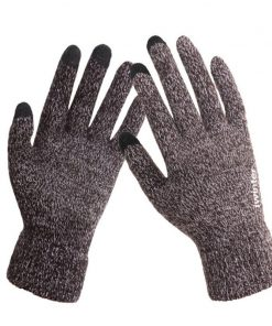 VISNXGI 2018 New Fashion Touched Gloves Knit Hot Gloves Driving Stretch Glove Gift For Men Women Winter Warm Glove Top Quality 1