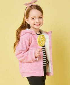 Balabala girls brushed jackets Children Clothes fashion long sleeve coats and jackets winter thermal coat for toddler girls 1