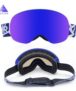VECTOR Ski Goggles Double Layers with Magnetic UV400 Anti-fog Big Spherical Ski Glasses Men Women Snow Snowboard Goggles Eyewear 1