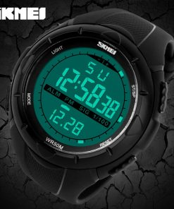 SKMEI Men Climbing Fashion Sports Digital Wristwatches Big Dial Military Watches Alarm Shock Resistant Waterproof Watch 1025 1