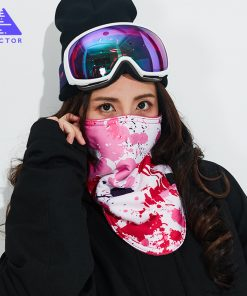 VECTOR 2018 Winter Warm Ski Snowboard Motorcycle Outdoor Sport Full Face Mask Cartoon Triangular Scarf Windproof Skiing Mask