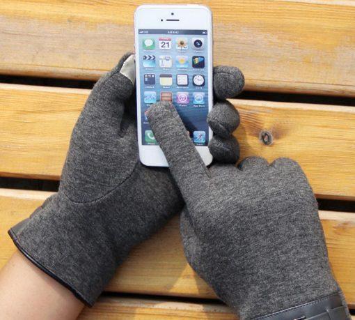 VISNXGI Winter Spring 2018 Fashion Cloth Cotton Wrist Plush Comfortable Soft Feeling Men Touched Mittens Gloves High Quality 4
