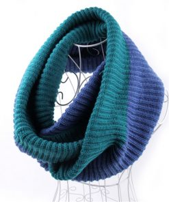 VISNXGI 2018 Winter Cable Ring Scarf Women Knitting Infinity Scarves Knitted Warm Neck Circle Scarf Bufandas Cuellos Hot Sale 1