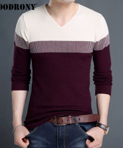COODRONY V-Neck Pullover Men 2018 Autumn Winter Brand Clothing Slim Fit Cotton Knitwear Pull Homme Thick Wool Sweater Men 7149 1