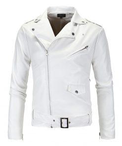 Danjeaner 2018 Men Leather Jackets New Arrive Motorcycle PU Jacket  Plus Size Turn-down Collar Slim Windbreaker Bomber Jacket 1