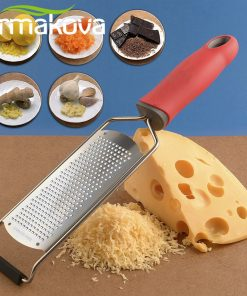 ERMAKOVA Wide Cheese Grater Citrus Lemon Zester Ginger Potato Garlic Chocolate Zester  with Plastic Cover Long Ergonomic Handle 1