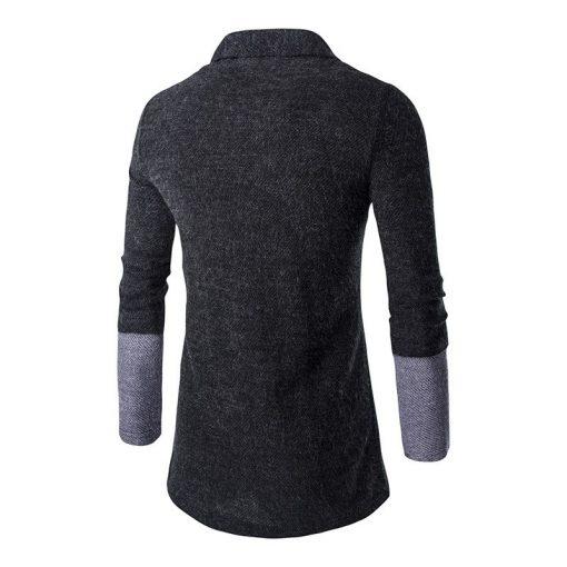 Brand New 2018 Autumn Winter Patchwork Cardigan Men 3