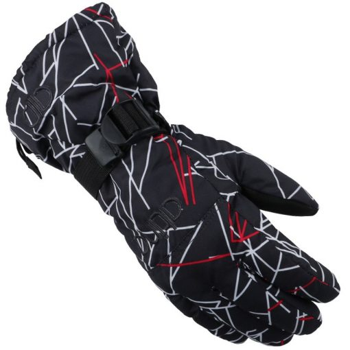 Winter Luvas Men Esquiar Gloves High Quality Doodle Women Hand Warmer Camo Printed Cotton Thickened Male Gloves Waterproof G052 1
