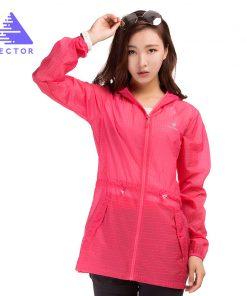 VECTOR Waterproof Jacket Women Spring Summer Jacket Sun Protection Ultralight Outdoor Coat Sport Running Hiking 80010