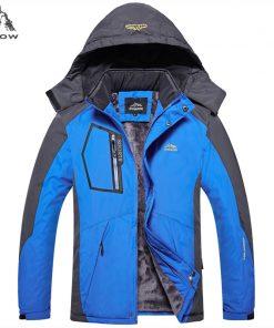 PEILOW new 2018 Warm Outwear Winter Jackets Men Thick Windproof waterproof hood Casual Men Jacket Parkas overcoat size L~5XL 1