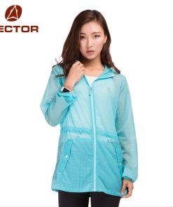 VECTOR Waterproof Jacket Women Spring Summer Jacket Sun Protection Ultralight Outdoor Coat Sport Running Hiking 80010 1