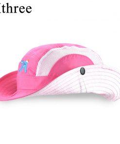 Xthree  New girls summer hat child bucket hat  kids cap baby boy cowboy hat casquette garcon