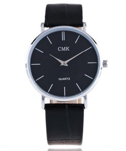 Fashion Brand Men Watches Super Thin Simple Face Design Qaurtz-watch With Black Leather Band Ultraslim Mens Wrist watch Clock 1