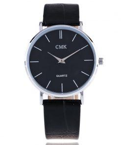 Fashion Brand Men Watches Super Thin Simple Face Design Qaurtz-watch With Black Leather Band Ultraslim Mens Wrist watch Clock 1