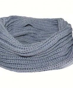 VISNXGI 2018 Winter Fashion Womens Warm Scarves Knit Neck Circle White Wool Blends Multi-purpose Wool Scarf Bufandas Hot Sale 1