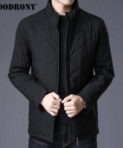 COODRONY Winter Jacket Men Thick Warm Cotton Overcoat Slim Parka Men Clothes 2018 New Business Casual Stand Collar Coat Men 8840