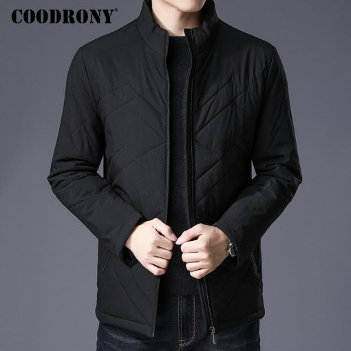 COODRONY Winter Jacket Men Thick Warm Cotton Overcoat Slim Parka Men Clothes 2018 New Business Casual Stand Collar Coat Men 8840
