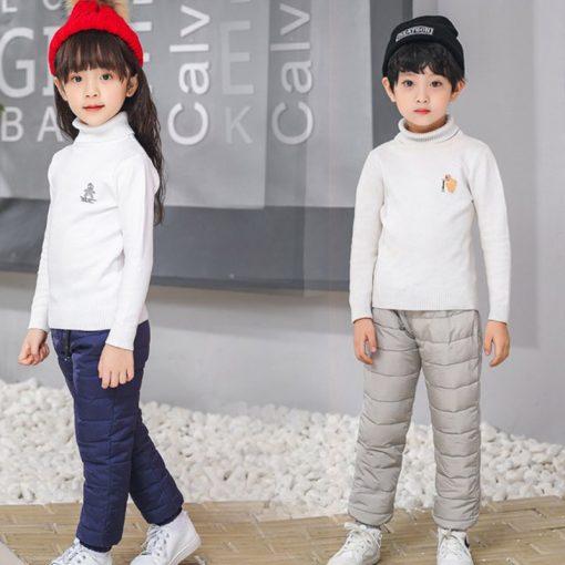 Kids boys pants trousers Duck Down harem pants boys winter pants for girls Kids Elastic Waist Thick trousers Children's Clothes 4