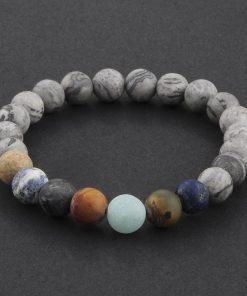 DIEZI Yoga Men Universe Galaxy Planets Stone Bracelets & Bangles 7 Stars Beads Pray Mala Handmade Bracelet For Women Jewelry 1