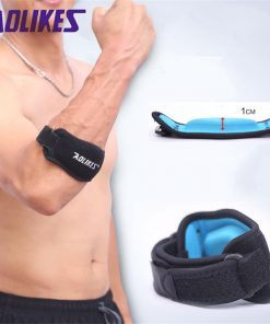 AOLIKES 1PCS Fitness Elbow Pad Tennis Badminton Coderas Muscle Pressurized Protective Adjustable Men Women Sports Safety