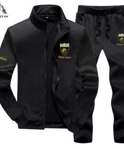 PEILOW Brand Men Sets Fashion Autumn Spring Sporting Suit Sweatshirt+Sweatpant Tracksuit Men`s sportswear Clothing 2 Pieces Sets