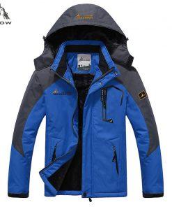 PEILOW Plus size 5XL,6XL outwear winter coat men and women`s thicken waterproof fleece warm cotton parka coat men jacket 1