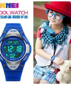 SKMEI Children Outdoor Sports Watches Boy Alarm Digital Watch Kids Stopwatch Waterproof Girls Wristwatches Clock 1077 1