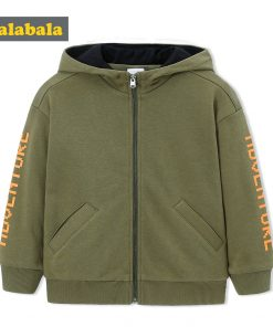 balabala Children Boys Jackets Autumn 2018 New Child Wear Casual Hooded Baseball Uniform Fashion Loose Fun Cardigan For Boys